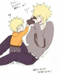 Awwwwwwww Minato is trying to take a picture of the curious little baby Naruto😍If he were alive he be such an amazing dad and give Naruto some really great memories❤❤❤❤❤❤❤❤❤❤❤ Naruto Shippuden Sasuke, Anime Naruto, Naruto Comic, Naruto And Sasuke, Gaara, Sasunaru, Naruto Cute, Naruto Funny, Sarada Uchiha