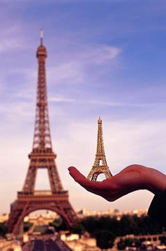 Eiffel Tower in the palm of your hand