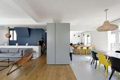 Plus belles maisons de paris : projet de Ulli Heckmann & Eitan Hammer Architectes vue de la cuisine