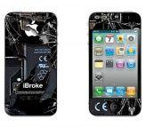 iPhone 4/4s iBroke2 skin www.mayom.eu Iphone 4, Self