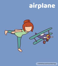 Airplane Yoga Pose ✈ Balance poses help children develop their vestibular systems.