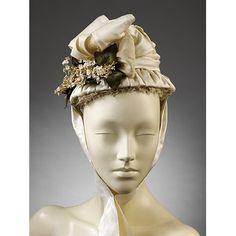 1870-1875, British  Wedding bonnet