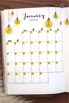If you want to change up the theme of your bujo, check out these super fun light bulb themed bullet journal spreads, layouts and pages for inspiration! #bujo #bujotheme #bulletjournal #bujoinspiration
