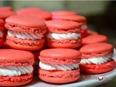 Strawberries & Cream Macarons