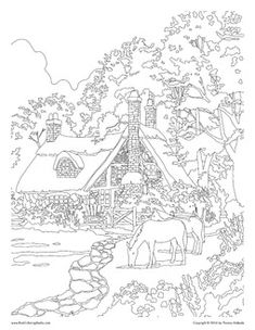 Image Result For Thomas Kinkade Coloring Pages