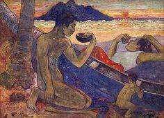 Paul Gauguin   Canoe, Tahitian Family