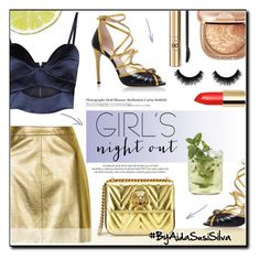 """""""Girls' Night Out: Summer Edition"""" by aidasusisilva ❤ liked on Polyvore featuring Michael Lo Sordo, Topshop, Gucci, Louis Vuitton, D&G, Hedi Slimane and girlsnightout"""