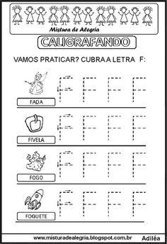 ALFABETO PONTILHADO, CALIGRAFANDO, ALFABETIZAÇÃO PARA IMPRIMIR E COLORIR-Mistura de Alegria