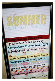 we've all been making lists of things to do this summer before any of the kids were even out of school. we wanted to make sure we never ran out of ideas and that we made good use of these school free days. we can't take credit for this cute project, we stole the idea …