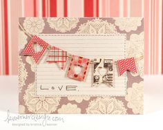 Love this card by Kristina Werner. The words are from the Smooch by Ali Edwards stamp set from TechniqueTuesday.com.