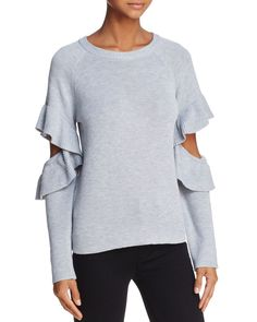 Endless Rose Ruffled Cutout Sweater - 100% Exclusive
