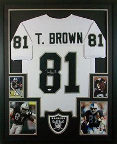 Tim Brown Framed Jersey Signed JSA COA Autographed Oakland Raiders Notre Dame Mister Mancave http://www.amazon.com/dp/B013HKLILO/ref=cm_sw_r_pi_dp_Odurwb1H5Y6EX