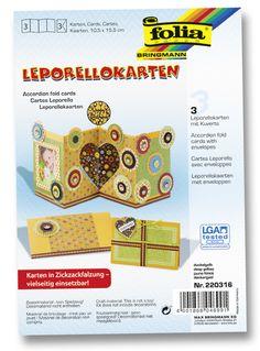 Leporello-Karen aus hochwertigem Karton in unterschiedlichen Dickegraden sorgen für individuelle Kreativität. Mehr unter http://www.folia.de/index.php?id=140