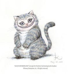 Tim Burton's Alice in Wonderland - Chaeshire Cat character design 2