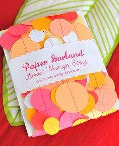 can make this myself - birthday paper garland
