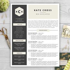 9 best Monogram Resume Templates images on Pinterest | Resume ...
