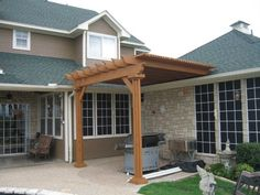 attaching a pergola to a sloping roof - Google Search