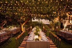 Awesome lights and seating. A Napa Wedding Reception.