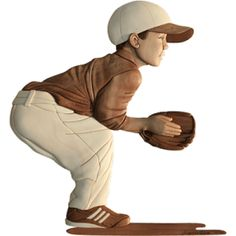 Woodworking pattern of a boy Baseball scroll saw Intarsia Pattern. Side view of little boy (catcher) waiting to catch a ball. A Wonder Wheel was used for adding texture. Woodworking Saws, Intarsia Woodworking, Woodworking For Kids, Woodworking Patterns, Easy Woodworking Projects, Woodworking Techniques, Intarsia Wood Patterns, Wood For Sale, Easy Wood Projects