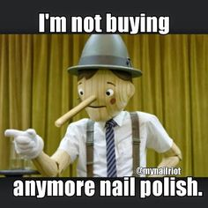 """First rule of Polish Addiction… there is no polish addiction."" #LetUsBe #nailmeme"