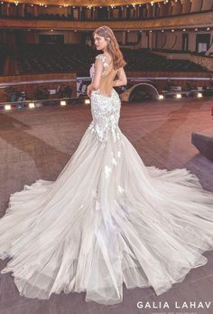 galia lahav couture bridal cap sleeves sweetheart neckline heavily embellished bodice romantic blush mermaid wedding dress backless low back chapel train (sally) bv -- Steal the Show with Galia Lahav Spring 2020 Wedding Dresses Backless Mermaid Wedding Dresses, Western Wedding Dresses, Sweetheart Wedding Dress, Mermaid Dresses, Bridal Dresses, Wedding Gowns, Mermaid Sweetheart, Couture Dresses, Bridesmaid Dresses