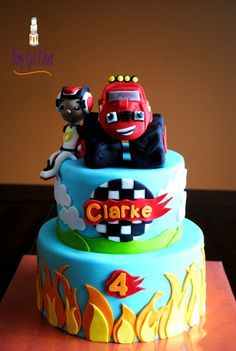 This Blaze and the Monster Machines birthday cake is totally blazing! *by Cake Central,