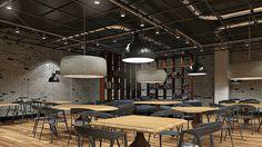 Визуализация большого кафе в Expostroy