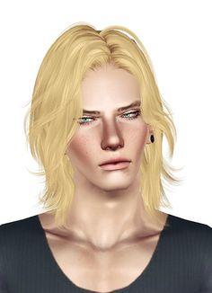 Newsea's Chain Reaction hairstyle retextured by Jas - Sims 3 Hairs Sims 3 Male Hair, Sims 2 Hair, Sims 4 Cc Eyes, Sims Cc, The Sims 4 Cabelos, Pelo Sims, Medium Hair Styles, Long Hair Styles, Boys Long Hairstyles