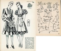 1940s (1940-1941) German Women's Dirndl Lutterloh 1940-41 65
