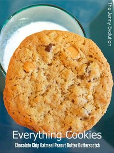 Everything Cookies Recipe! Chocolate Chip Oatmeal Peanut Butter Butterscotch | The Jenny Evolution