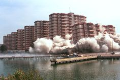 I lived in the one that is falling, last tower, 11th floor, sea side. Pinetamare, Italy. This is when they were demolishing them.