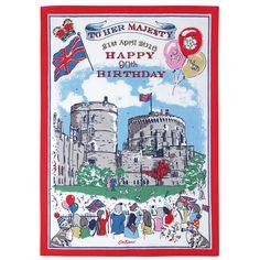 The Queen's 90th Birthday Tea Towel | Queen's Birthday | CathKidston