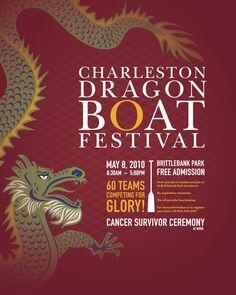 Charleston Dragon Boat Festival poster 2010