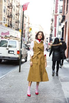 Leandra's tutorial on how to wear a knee-length skirt, even when you hate the thought of a knee-length skirt.