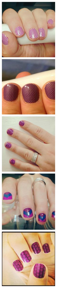 The perfect manicure! Jamberry Nail Wraps in shades of purple! Nail art for short nails. www.bkimball.jamberrynails.net