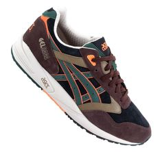 Asics Gel Saga II Brown Green Orange