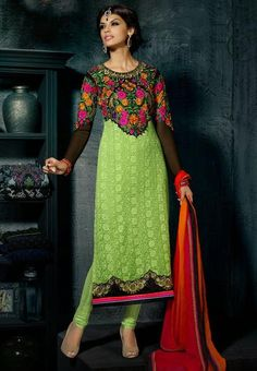 Elegant Hue Green and Black Embroidered Suit  https://www.ethanica.com/products/elegant-hue-green-and-black-embroidered-suit