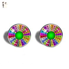 Wheel Of Fortune Cufflinks Cuff links Symbol Cosplay Fashion Jewelry Charm Cute Gift - Groom cufflinks and tie clips (*Amazon Partner-Link)