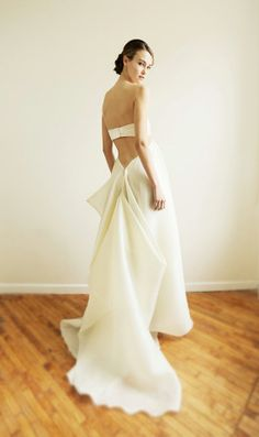 This is supposed to be a wedding dress. Not my favorite as a wedding dress, but as just a dress, I love it.