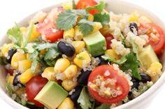 Quinoa Salad w/ black beans and avocado   http://www.mindbodygreen.com/0-11957/quinoa-salad-with-black-beans-avocado.html