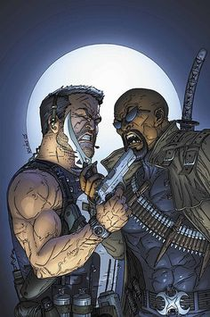 The Punisher vs Blade What is this; bringing a knife to a gunfight ?!