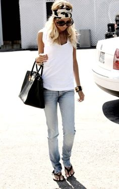 Nicole Richie | #bohemian #boho #hippie #gypsy #denim