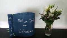 TAUFE - Blumenschmuck u Teelicht Lampe