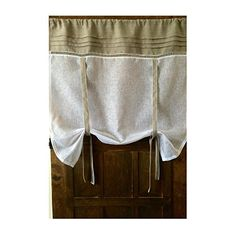 "Custom Roll Up Curtain Natural Beige Flax Linen White Sheer Curtain up to 42"" wide *** Want to know more, click on the image. (Amazon affiliate link)"