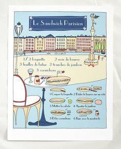PARIS I Vintage poster - Le sandwich parisien