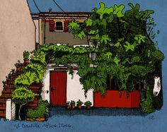 Ma maison… (encre et digital) ©Antoine Digout