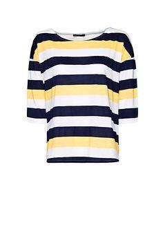 MANGO - Tricolour stripes t-shirt