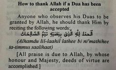 Dua for thanking Allah
