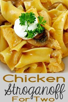 Chicken Stroganoff for Two - Enjoy the rich, satisfying flavors of this easy Chi. - Easy Recipes - Chicken Stroganoff for Two – Enjoy the rich, satisfying flavors of this easy Chi… – - Small Meals, Meals For Two, Easy Chicken Recipes, Seafood Recipes, Easy Recipes, Chicken Flavors, Chicken Ideas, Batch Cooking, Cooking Recipes