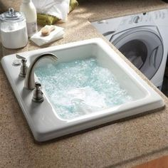 Insanely Clever Make Over Ideas For Your New Home, jetted sink in laundry room for washing delicates